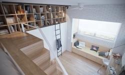 O amenajare ingenioasă pentru un apartament-studio de 38 mp